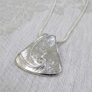 Reaction Pewter Swirl Necklace