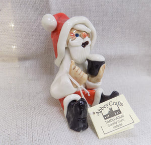 Handmade Santa Claus Figure with Pint