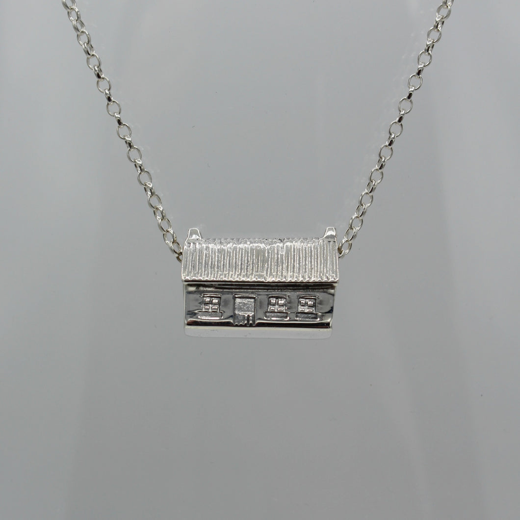 Sterling Silver Irish Cottage Necklace