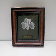 Load image into Gallery viewer, Framed Limerick Lace Shamrock