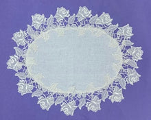 Load image into Gallery viewer, Oval Rose Table Centre/Doily (Lrg)