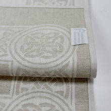 "Load image into Gallery viewer, Damask Irish Linen Runner- ""Colmcille"" - 72"""