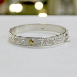 Celtic Warrior- Silver Bangle