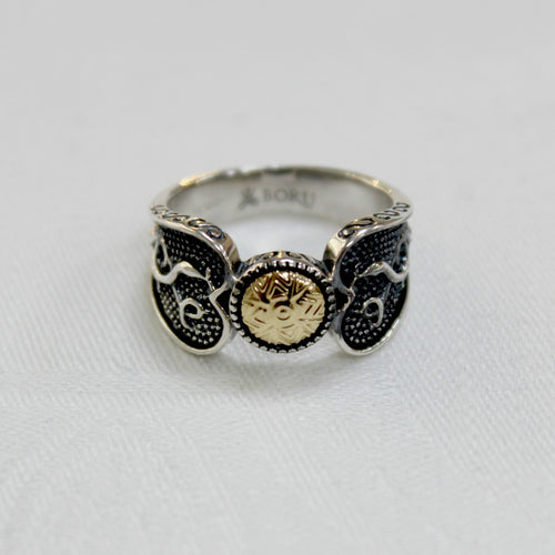 Celtic Warrior Ring - Silver and Gold