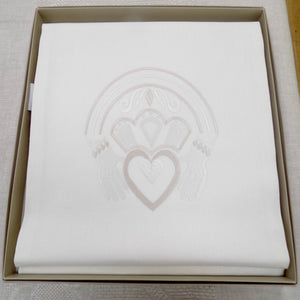Gold Claddagh design linen runner