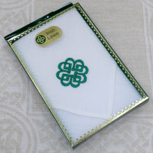 Load image into Gallery viewer, Irish Linen Handkerchief - Celtic Pattern