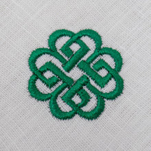 Load image into Gallery viewer, embroidered green celtic knot