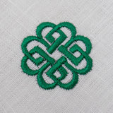 embroidered green celtic knot