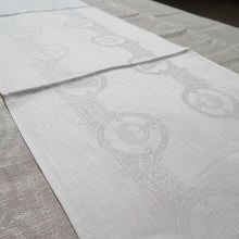 "Load image into Gallery viewer, Damask Irish Linen Runner- Celtic, 12""x45"""