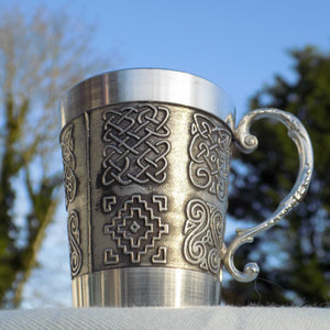 Mullingar pewter whiskey drinks measure