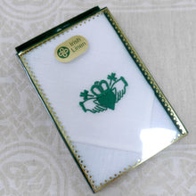 Load image into Gallery viewer, Irish Linen Handkerchief with Claddagh Design