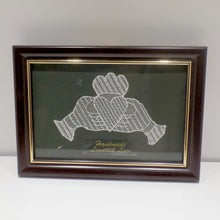 Load image into Gallery viewer, Framed handmade Limerick lace Claddagh