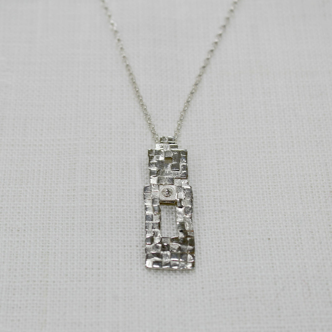 Abbey Wall necklace by Annie Quinn sterling silver made in Ireland