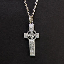 Load image into Gallery viewer, Sterling silver Irish cross of Muirdeach necklace