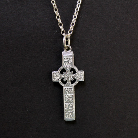 Sterling silver Irish cross of Muirdeach necklace
