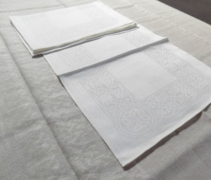 White Irish linen placemat