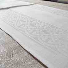 Load image into Gallery viewer, Colmcille celtic pattern Irish linen table runner