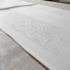 Colmcille celtic pattern Irish linen table runner