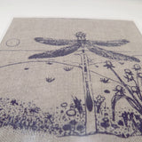 Dragonfly Screen Print on Linen