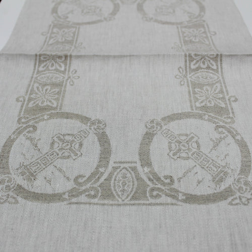 Damask Natural Irish Linen Placemat -