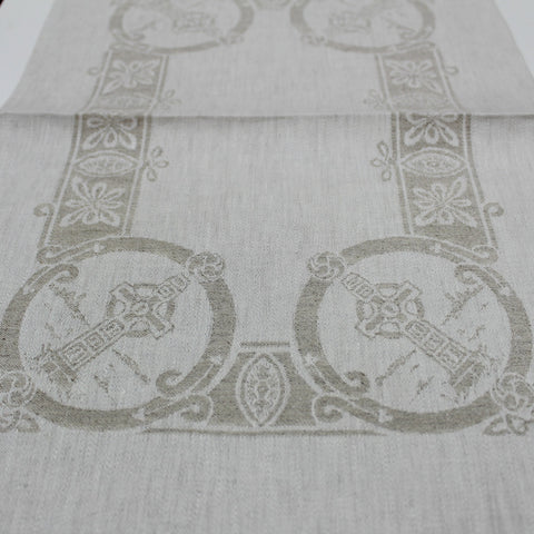 "Damask Natural Irish Linen Placemat - ""Celtic"""