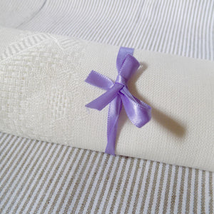Loose weave/ etamine Irish linen napkin in white