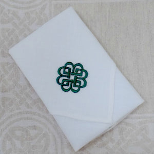Irish Linen Handkerchief - Celtic Pattern