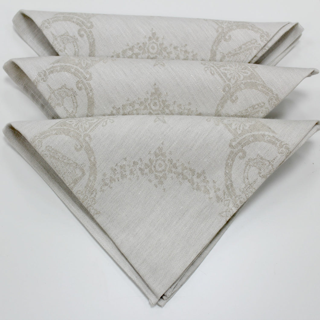 Damask Irish Linen Napkin -