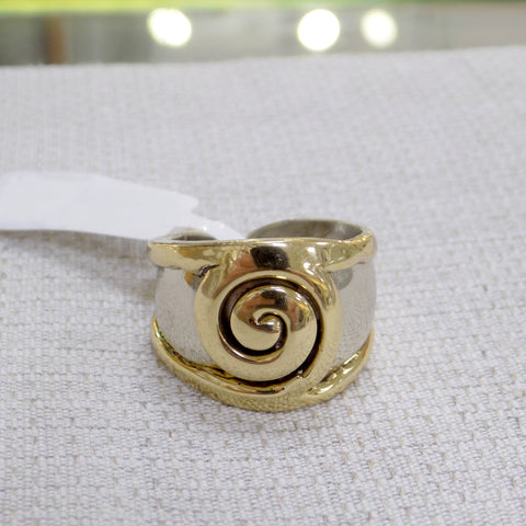Ladies wide Celtic style ring