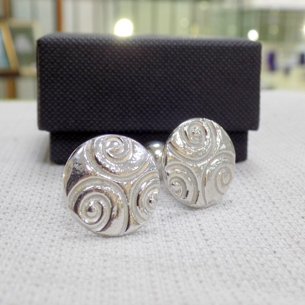 Celtic style pewter cufflinks