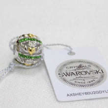 Load image into Gallery viewer, Claddagh bead charm with Swarovski crystal detail