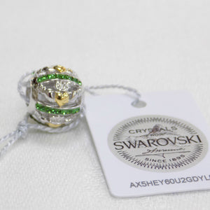 Claddagh bead charm with Swarovski crystal detail