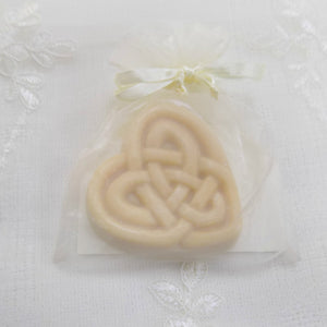 Handmade goats milk soap celtic heart