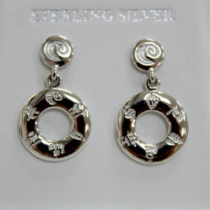 "History of Ireland ""Doughnut"" Earrings"
