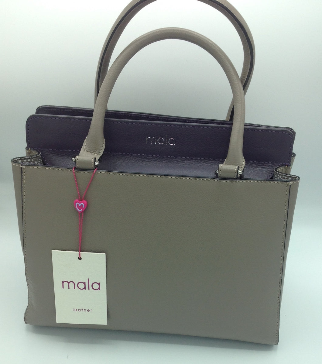 Mala Leather 2 Tone Large Bag