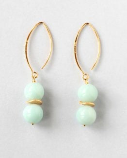 Amazonite Gold Earrings