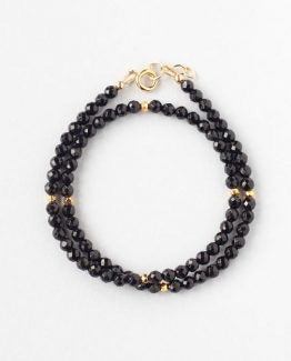 Black Onyx Double Wrap Bracelet
