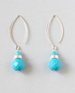 Turquoise Silver Earrings