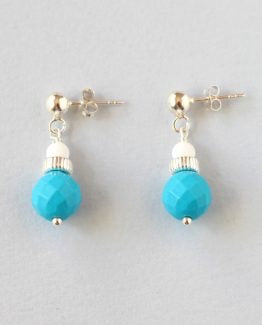 Turquoise Tridacna Silver Studs