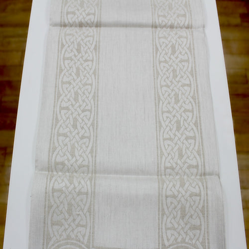 Damask Irish Linen Runner-