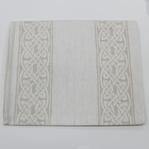"Damask Irish Linen Runner- ""Colmcille"" - 54"""