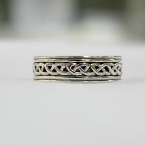 Men's Celtic Sterling Silver Ring