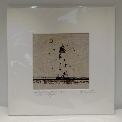 Lighthouse- Screen Print on Linen