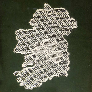 Limerick lace map of Ireland