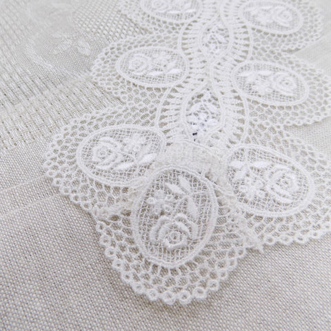 Rose Patterned Lace Doily