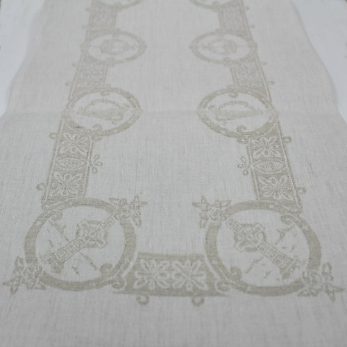 Damask Irish Linen Runner- Celtic- 12