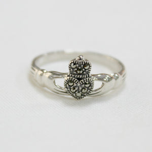 Marcasite Claddagh Ring