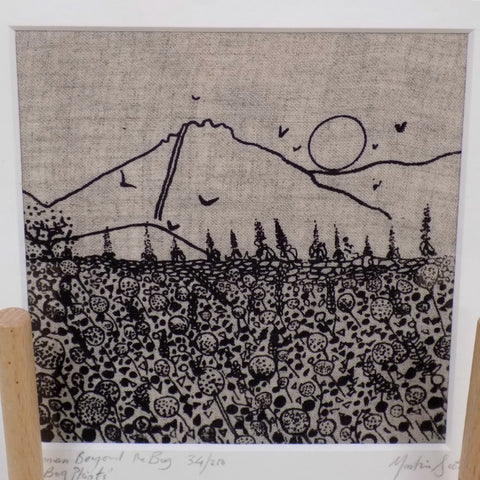 "Martina Scott Art Print on Linen- ""Binnian Beyond the Bog"""