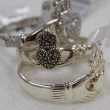 Load image into Gallery viewer, Marcasite Claddagh Ring