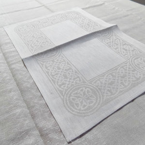 Irish linen tableware, Celtic weave placemat